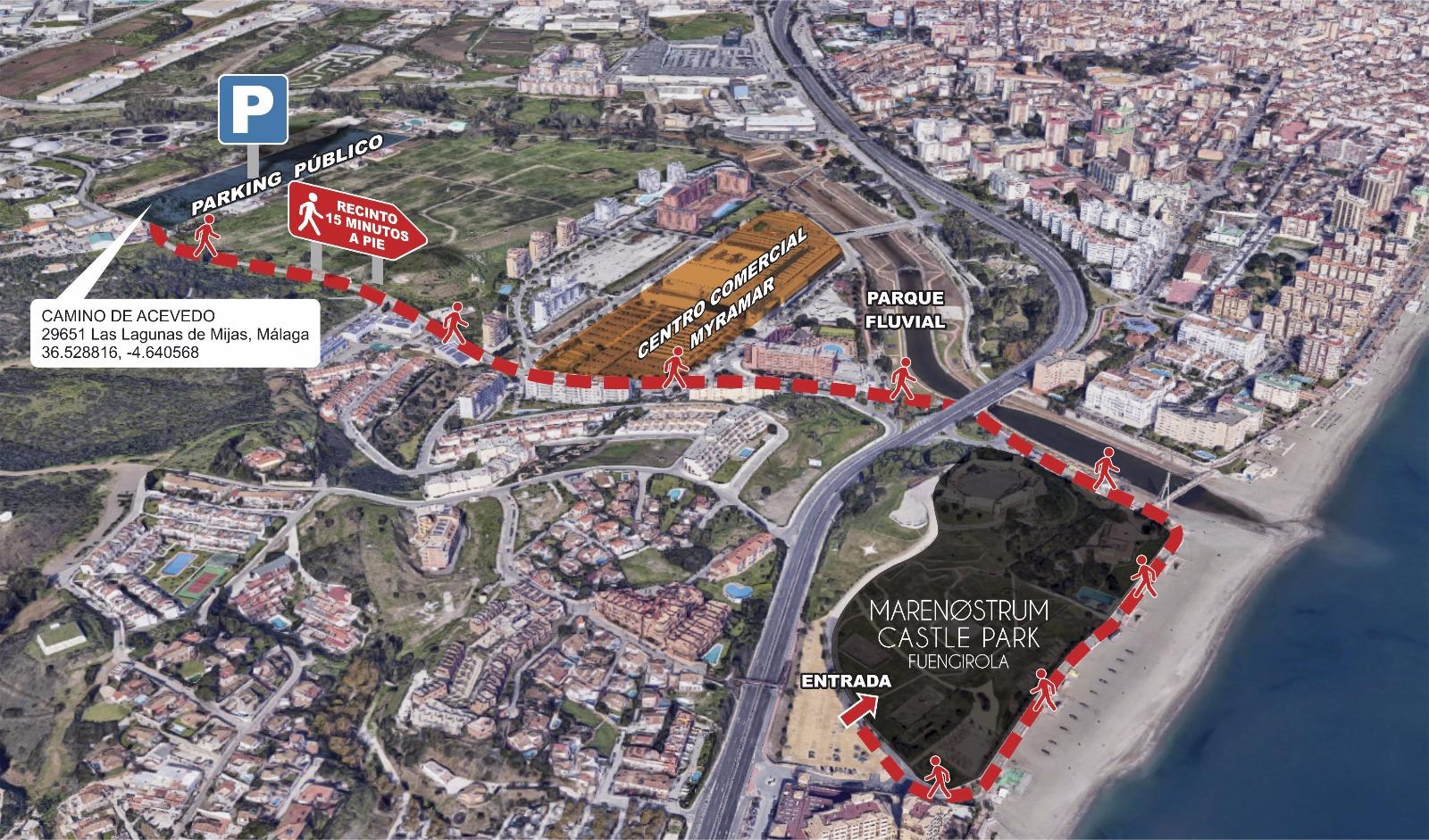 Mapa Parking Marenostrum Fuengirola